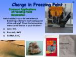 change in freezing point2