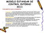 modelo estandar de control interno meci3