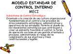modelo estandar de control interno meci7