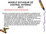 modelo estandar de control interno meci9