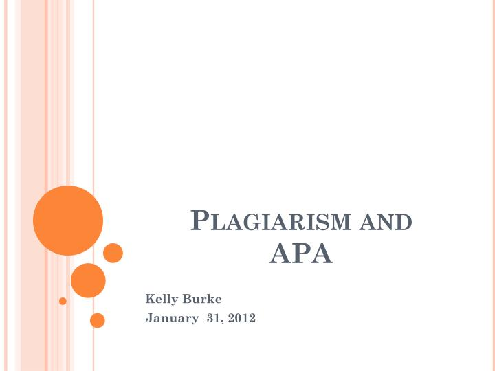 plagiarism and apa n.