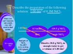 describe the preparation of the following solution 1 00 dm 3 of 0 3m nicl 2