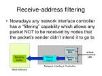 receive address filtering