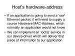 host s hardware address