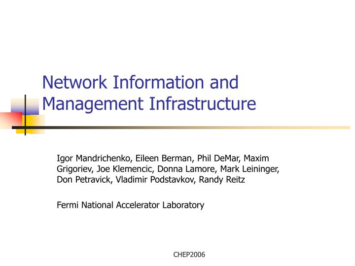 network information and management infrastructure n.