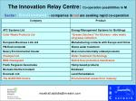 the innovation relay centre co operation possibilities in ni