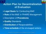 action plan for decentralization of evaluation