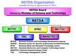 nstda organization established by a special law in 1991