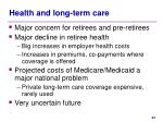 health and long term care