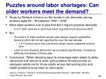 puzzles around labor shortages can older workers meet the demand
