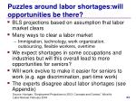 puzzles around labor shortages will opportunities be there1