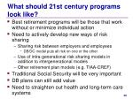 what should 21st century programs look like