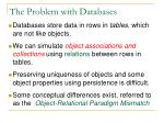 the problem with databases