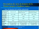 description des jeux de donn es de la guin e int gr s statbase suite