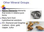other mineral groups4