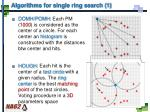 algorithms for single ring search 1
