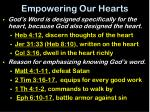 empowering our hearts