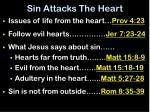 sin attacks the heart