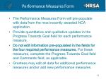 performance measures form