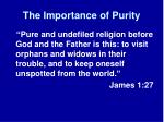 the importance of purity2