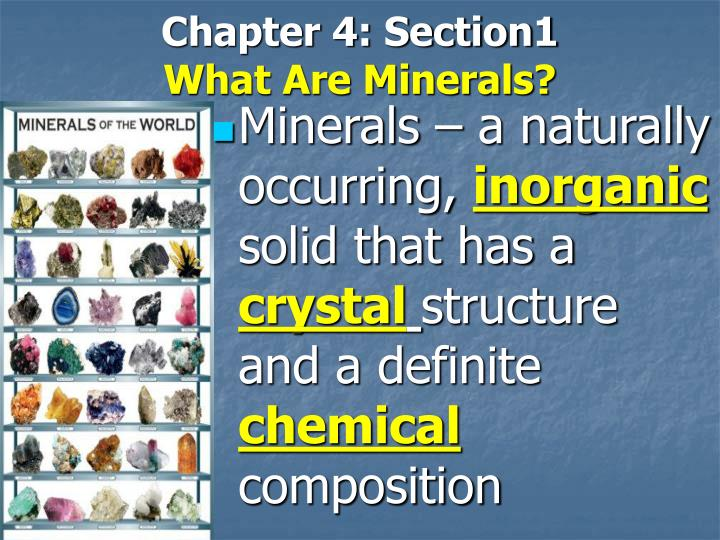 chapter 4 section1 what are minerals n.