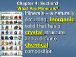 chapter 4 section1 what are minerals