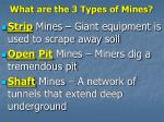 what are the 3 types of mines