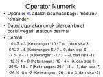 operator numerik3
