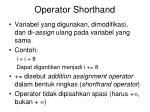 operator shorthand