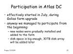participation in atlas dc