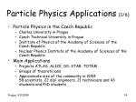 particle physics applications 1 6