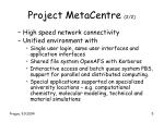 project metacentre 2 2