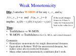 weak monotonicity