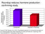 roundup reduces hormone production confirming study