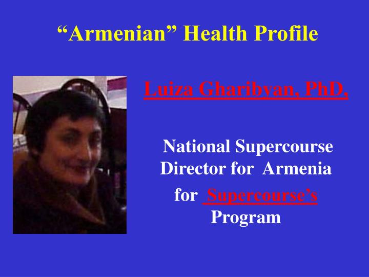 armenian health profile n.
