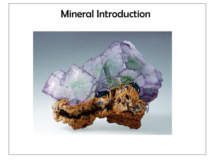 mineral introduction n.