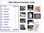 mohs mineral hardness scale