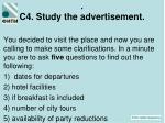 c 4 study the advertisement1