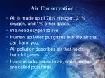 air conservation