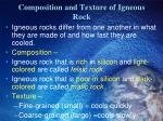 composition and texture of igneous rock1