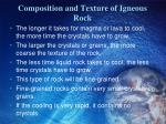 composition and texture of igneous rock2