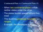 continental plate vs continental plate 5
