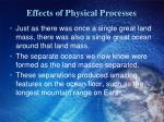 effects of physical processes