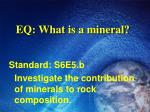 eq what is a mineral