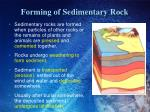 forming of sedimentary rock