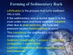 forming of sedimentary rock1