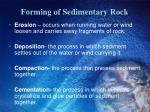 forming of sedimentary rock2