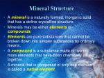 mineral structure