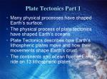 plate tectonics part 1