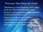 processes that shape the earth1